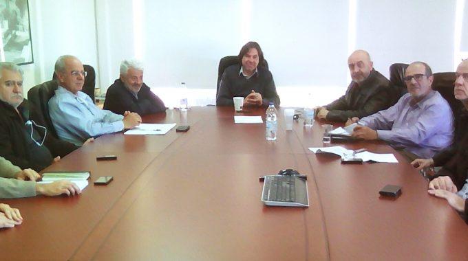 Σύσκεψη εργασίας  στον Ο.Α.Κ. Α.Ε. με την Δημοτική Αρχή Σφακίων